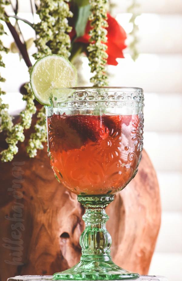 Sparkling Rose Sangria Mocktail