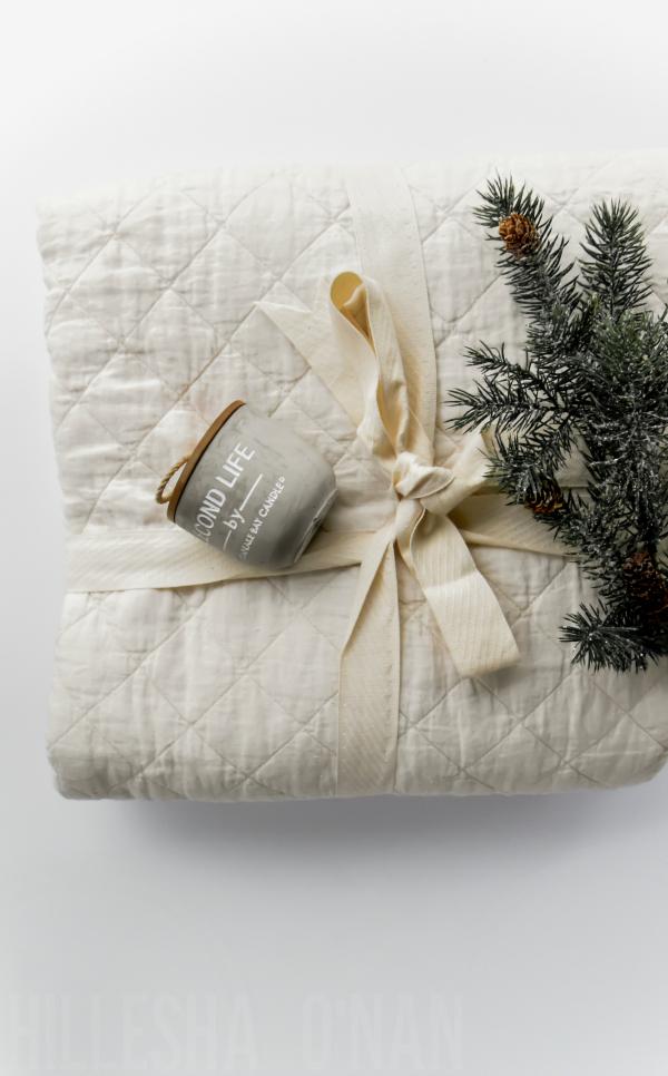 Brentwood Home Beachwood Linen Quilt