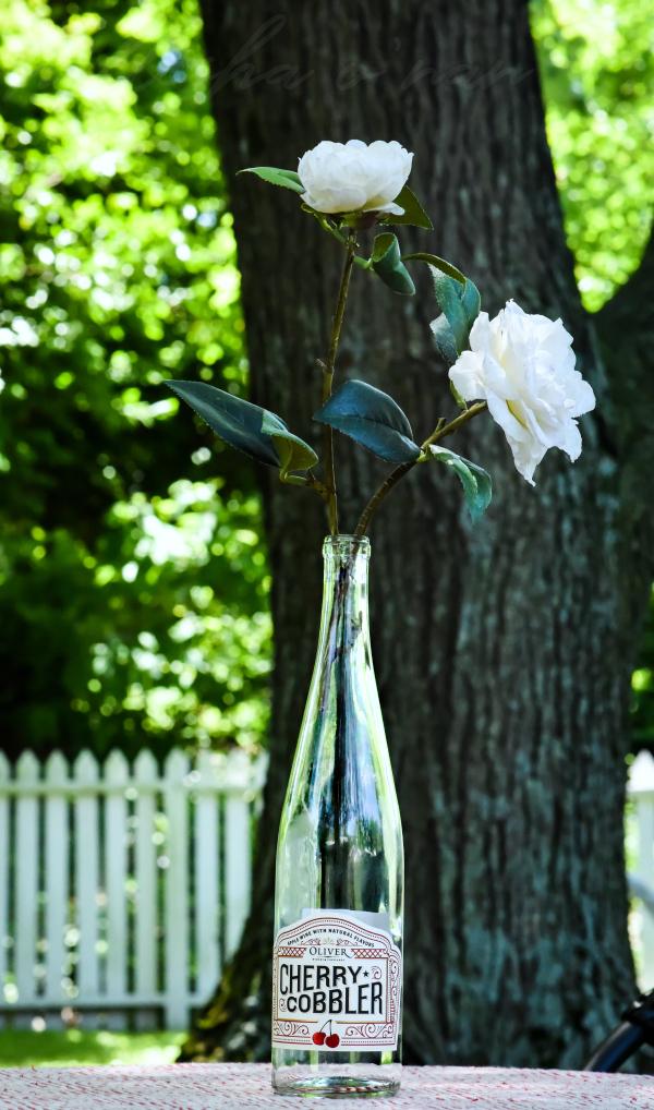 Repurposed Oliver Winery Cherry Cobbler Wine Bottle