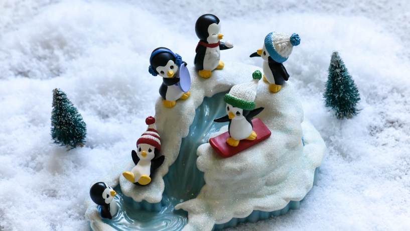 Precious Moments Winter Wonderland Resin Music Box