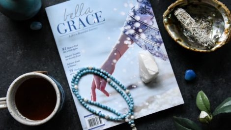 Japa Mala Beads Larimar and Moonstone Full Mala