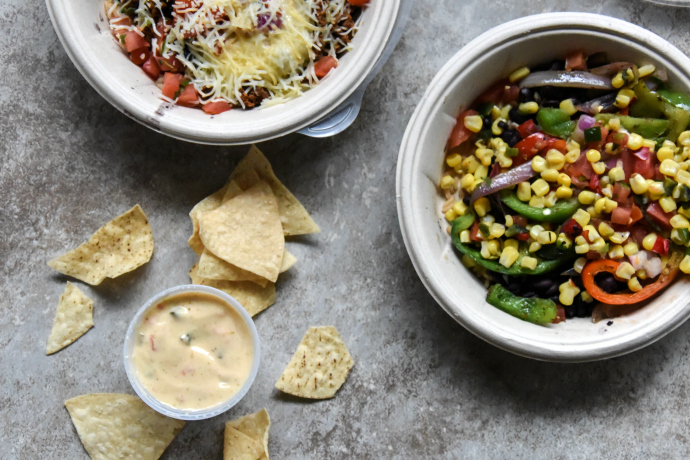QDOBA Naked Vegetarian Burrito Bowl