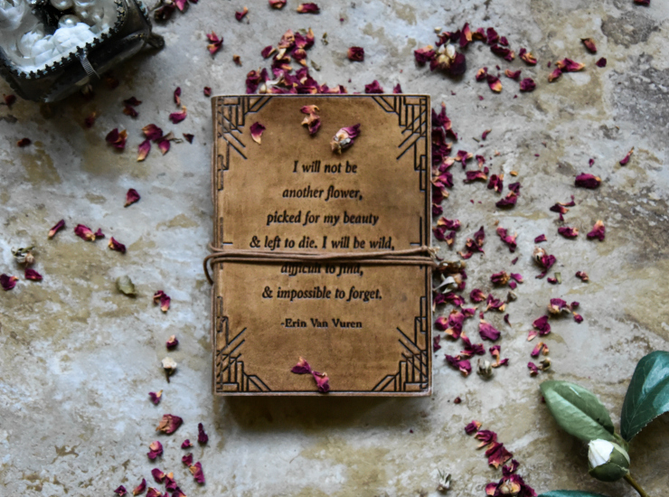 Soothi Not Another Flower Handmade Leather Journal