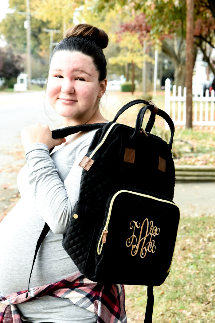 Marleylilly Monogrammed Diaper Backpack