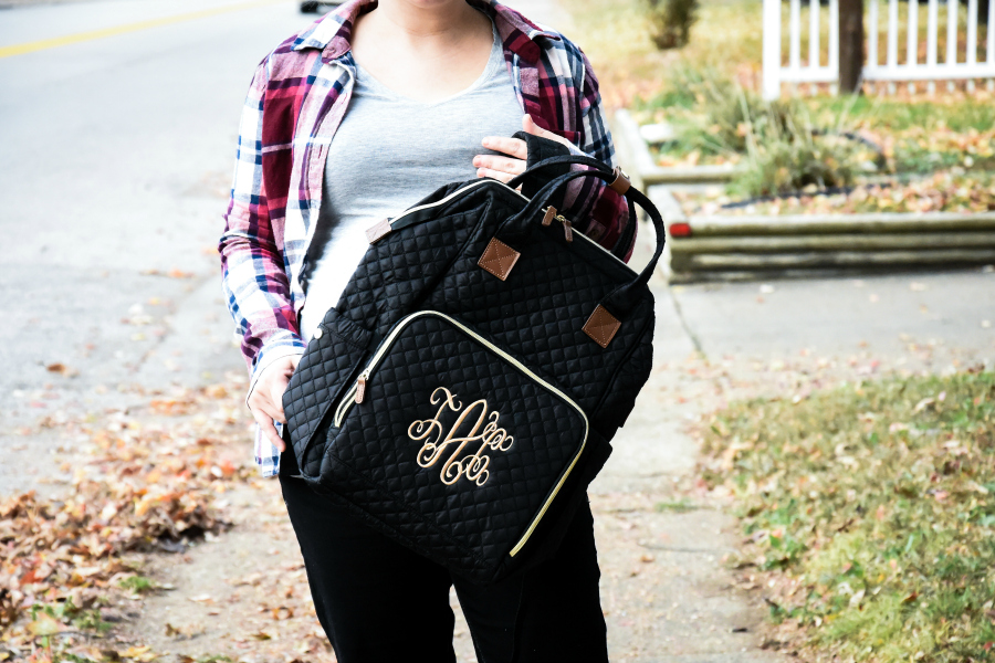 Travel in Style with the Marleylilly Monogrammed Diaper Backpack
