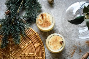 Spiked Vegan Eggnog with Cinnamon Whiskey Recipe