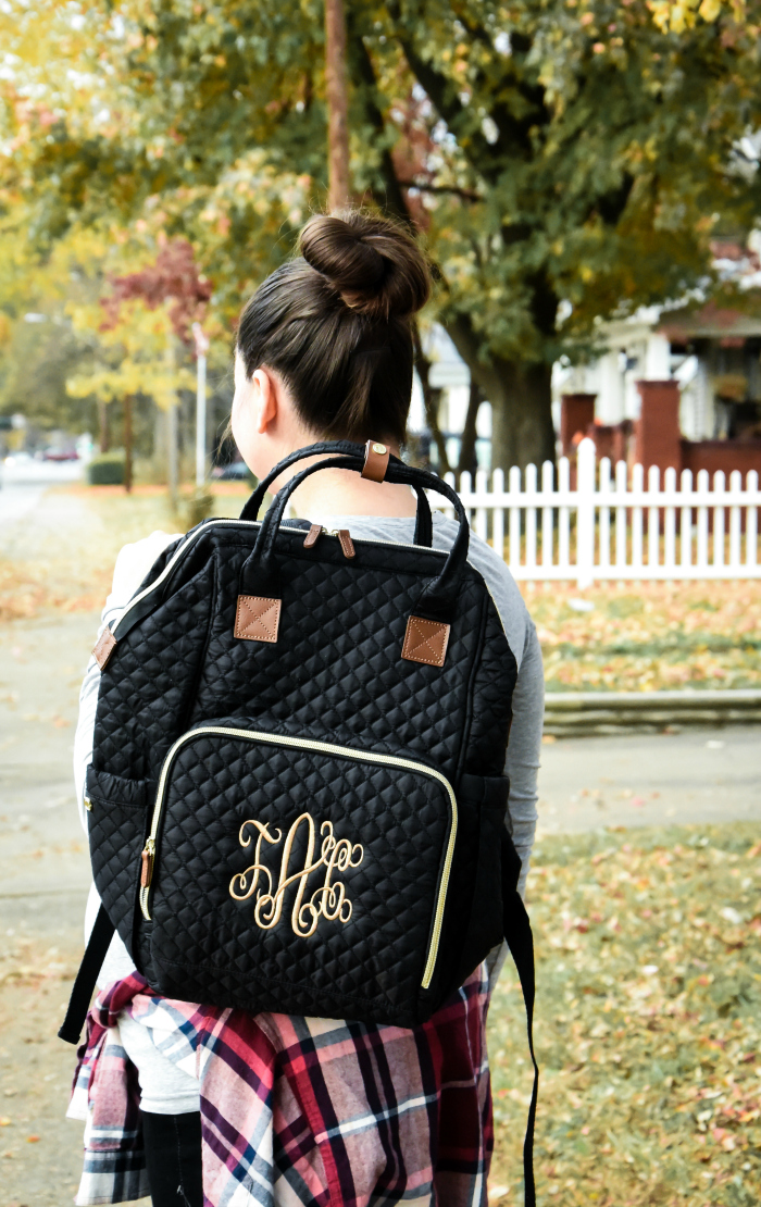 Marleylilly Monogrammed Diaper Backpack Review