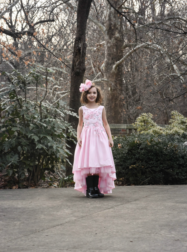 Lily Frilly Pink Satin Princess Dress Review