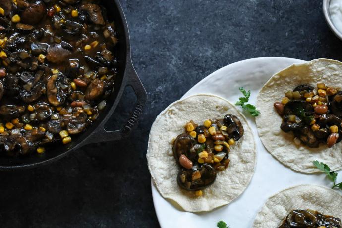 Baby Bella Mushroom Soft Tacos